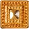 Glitz Sew-on Stone 10pcs Square 40mm Gold